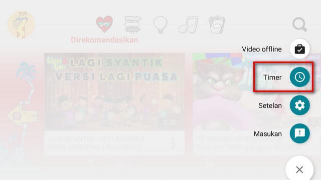 Cara Mengaktifkan Timer di Youtube Kids