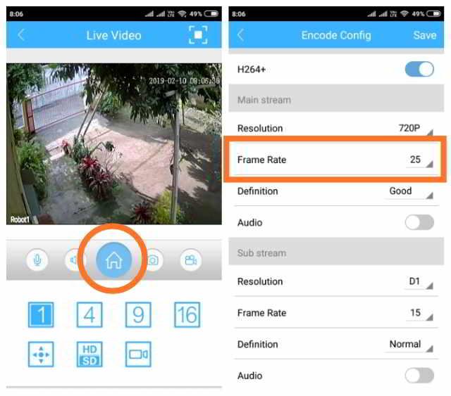 Cara Merubah Frame Rate di Ipcam Icsee Pro