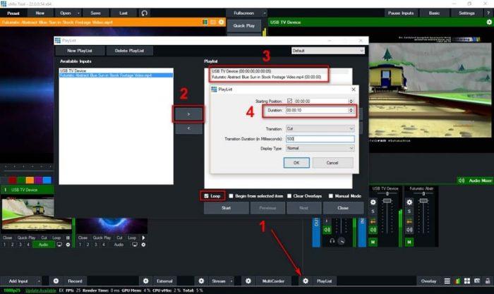 pindah input secara otomatis di Vmix