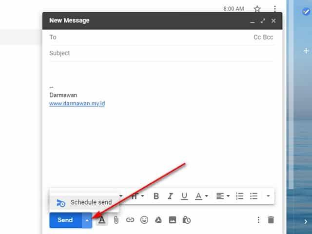 Menjadwalkan Email di Gmail