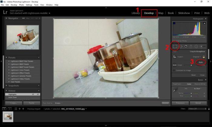Meluruskan Foto Miring dengan Cepat di Adobe Lightroom