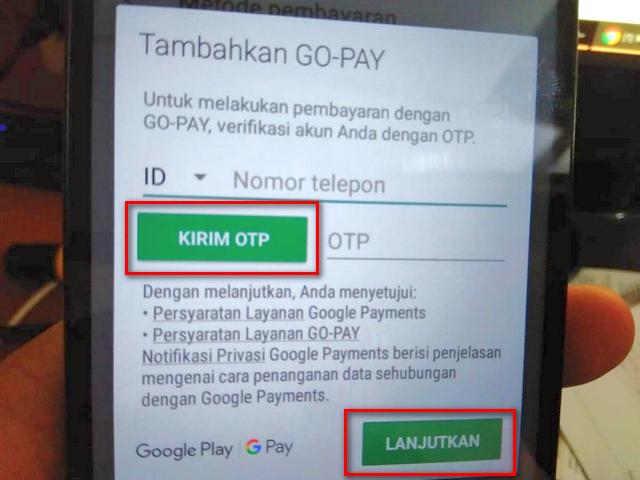 Belanja di Play Store Dengan GoPay