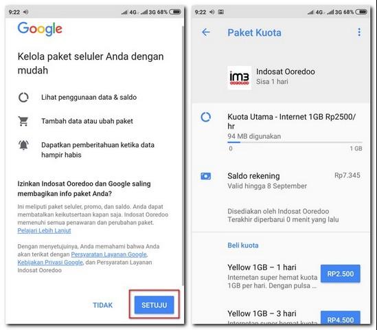 Cek Kuota Indosat Lewat Setelan Google Di Ponsel