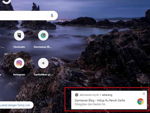 Kirim Link Antar Device di Browser Chrome