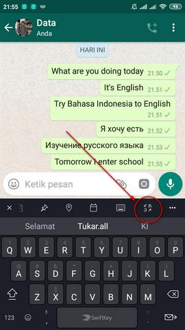 Translate Bahasa Dengan SwiftKey Keyboard