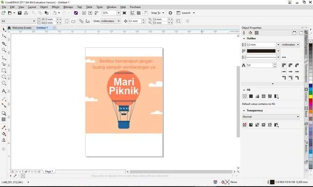Cara Membuka Desain Canva di Corel Draw