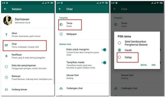 Whatsapp Rilis Tema Gelap, Begini Cara Mengaktifkan Tema Gelap Whatsapp