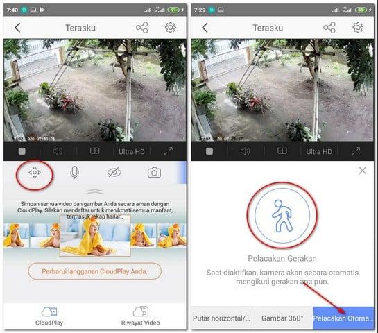 Cara Menggunakan Pelacakan Gerakan Otomatis di Ipcam Ezviz C6CN