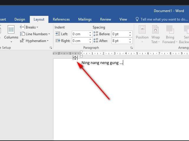 Mengatasi Teks Microsoft Word Mepet Atas dan Top Margin Hilang