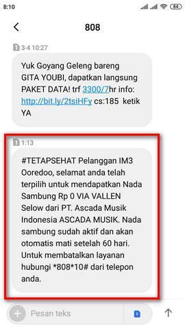 Cara Menghentikan Nada Sambung Indosat